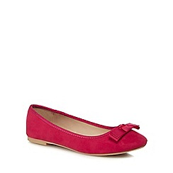 The Collection - Bright pink suedette 'Carlton' pumps