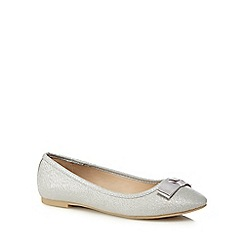 The Collection - Silver glitter 'Carlton' pumps