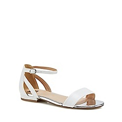 The Collection - White 'Caprice' ankle strap sandals