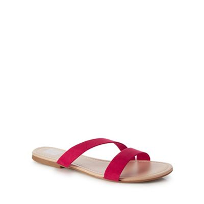 The Collection - Bright pink 'Carrie' 'Carrie' 'Carrie' slider sandals ef6c11