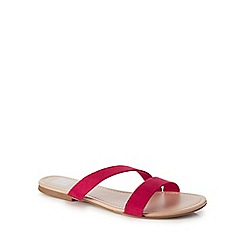 The Collection - Bright pink 'Carrie' slider sandals