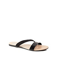 The Collection - Black 'Carrie' slider sandals