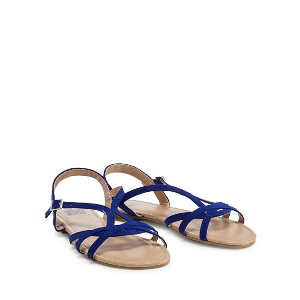 'Charming' strap sandals Collection The suedette ankle Blue ga1twq