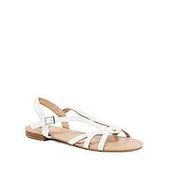 The Collection - White 'Charming' ankle strap sandals