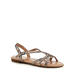 The Collection - Silver 'Charming' ankle strap sandals