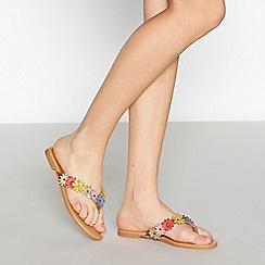 Mantaray - Multi-coloured 'Marla' flip flops