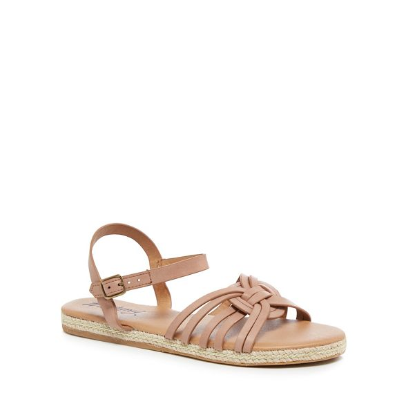 'Molly' espadrille sandals pink Light Mantaray ankle strap Hwvznq6