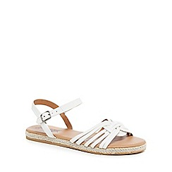 Mantaray - White 'Molly' espadrille ankle strap sandals