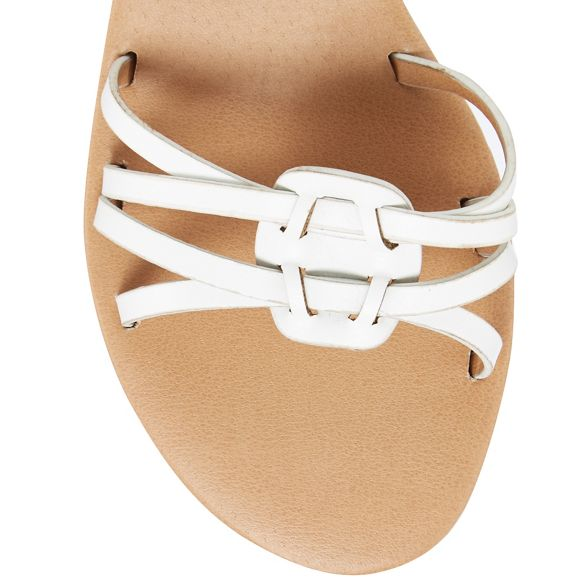 White heel ankle strap Mantaray mid sandals wedge SwqdZgnZz