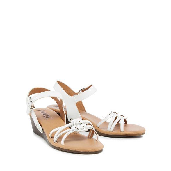 White heel ankle strap Mantaray mid sandals wedge SwqdZgnZz