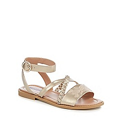 Mantaray - Gold 'Martha' ankle strap sandals