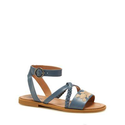 Mantaray - Blue 'Martha' ankle strap sandals