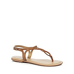 Mantaray - Tan suede 'Maid' T-bar sandals