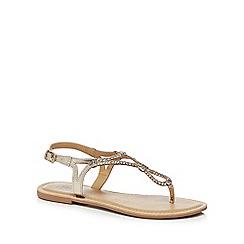 Mantaray - Metallic leather 'Maid' T-bar sandals