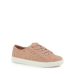 Mantaray - Light pink suedette 'Mars' trainers