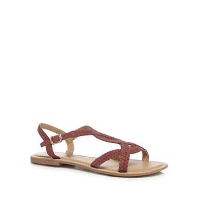 Mantaray 'Mattice' - Dark orange suede 'Mattice' Mantaray sandals 05c3f9