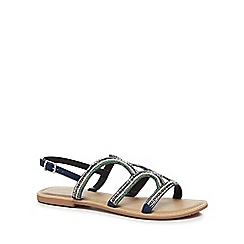 Mantaray - Navy 'Mead' ankle strap sandals