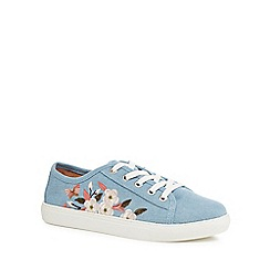 Mantaray - Blue denim embroidered 'Mystic' trainers