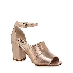 Nine by Savannah Miller - Light pink suedette 'Steph' high heel ankle strap sandals