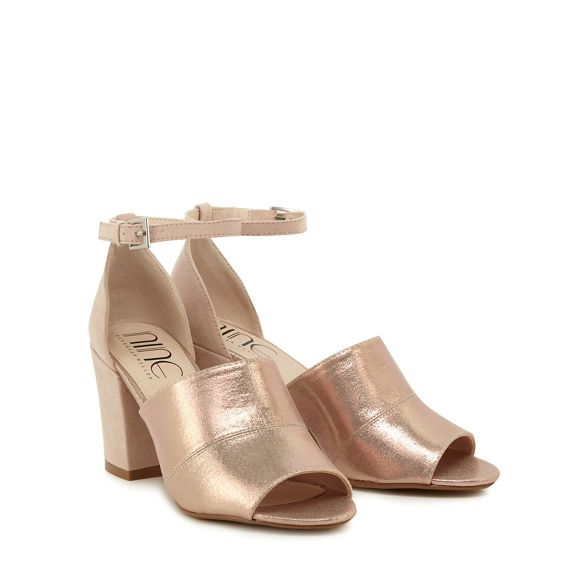 heel Savannah Miller sandals suedette by ankle pink strap Light Nine high 'Steph' AxBqw8fTO