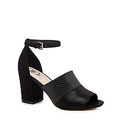 Nine by Savannah Miller - Black suedette 'Steph' high ankle strap sandals