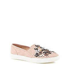 Nine by Savannah Miller - Pink suedette slip-on trainers