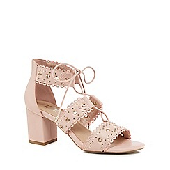 Nine by Savannah Miller - Pink 'Sadie' mid block heel ankle strap sandals