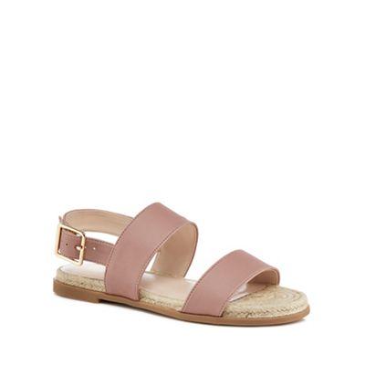 Nine by Savannah Miller - Light pink 'Stomp' ankle strap sandals