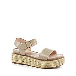 5fdcd7f23aef06 Nine by Savannah Miller - Metallic  Split  mid flatform heel ankle strap  sandals