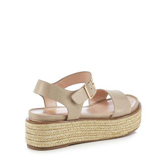 Nine sandals 'Split' Metallic Savannah by Miller mid ankle flatform strap heel rOfCrnvxq