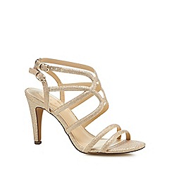 Debut - Gold glitter 'Dorinda' high stiletto heel sandals
