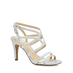 Debut - Silver glitter 'Dorinda' high stiletto heel sandals