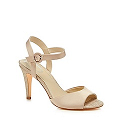 Debut - Pale pink satin 'Daenerys' high stiletto heel ankle strap sandals