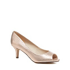 Debut - Rose metallic 'Darleen' mid stiletto heel peep toe shoes