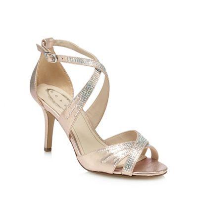 Debut Rose gold 'Donte' high stiletto heel ankle strap sandals   Debenhams