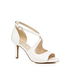 Debut - Ivory 'Deja' high stiletto heel peep toe sandals