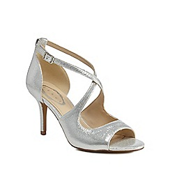 Debut - Silver 'Deja' high stiletto heel peep toe sandals