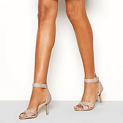 ae6b76813db Debut - Rose  Diana  mid stiletto heel wide fit ankle strap sandals