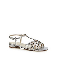 Debut - Silver diamante 'Dango' ankle strap sandals