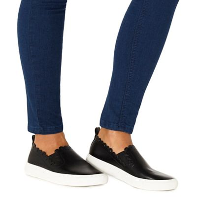 Faith - Black 'Ken' slip on trainers
