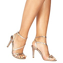 Faith - Rose gold 'Delly' high stiletto heel ankle strap sandals