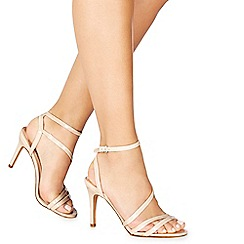 Faith - Pale pink patent 'Delly' high stiletto heel ankle strap sandals