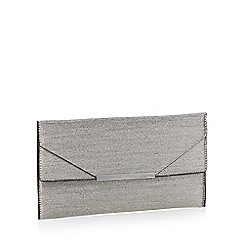 Faith - Metallic glitter 'Patricia' envelope clutch bag