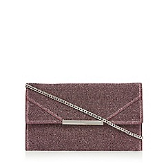 Faith - Pink textured 'Patricia' clutch bag