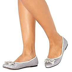 Faith - Grey glitter 'Adi' pumps