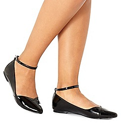 Faith - Black patent 'Allie' pointed shoes