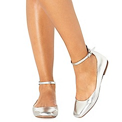 Faith - Silver 'Annette' pumps