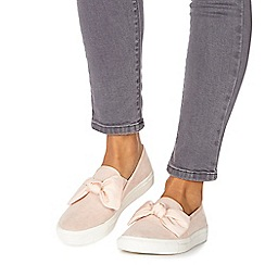 Faith - Light pink 'Krispy' slip on trainers