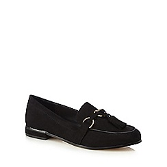 Faith - Black suedette 'Amora' loafers