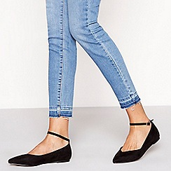 Faith - Black 'Ally' pointed wide fit shoes